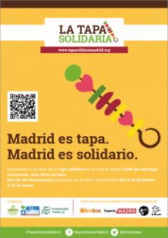 Terminamos la I Edición de la Tapa Solidaria en Madrid.