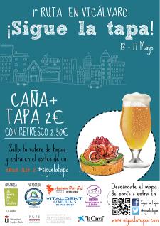Ruta de Tapas por Vicálvaro del 13 al 17 de mayo.