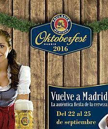 Llega el Oktoberfest Madrid del 22 al 25 de septiembre