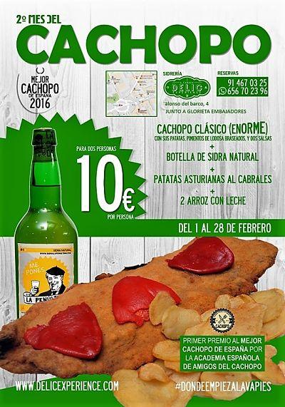 2º Mes del Cachopo del 1 al 28 de febrero en Sidrería A Cañada DELIC