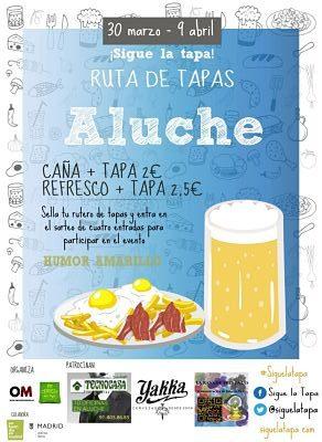 Ruta de Tapas por Aluche del 30 de marzo al 9 de abril