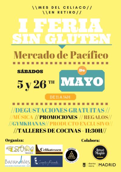 I Feria Sin Gluten el 5 y 26 de mayo en Retiro