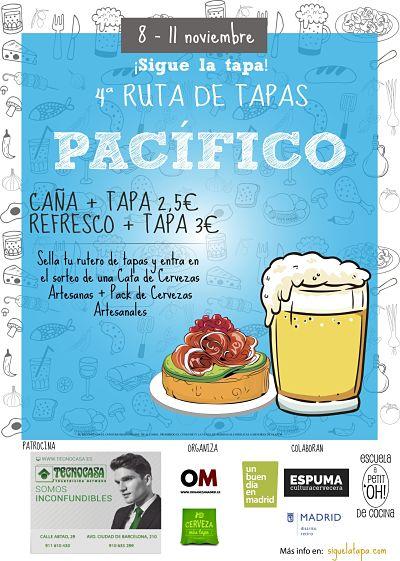 Ruta de Tapas de Pacífico, IV Edición del 8 al 11 de Noviembre