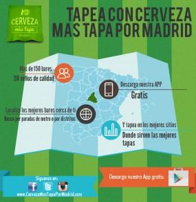 ¡Por fin lanzamos nuestra APP de Cerveza más Tapa por Madrid!