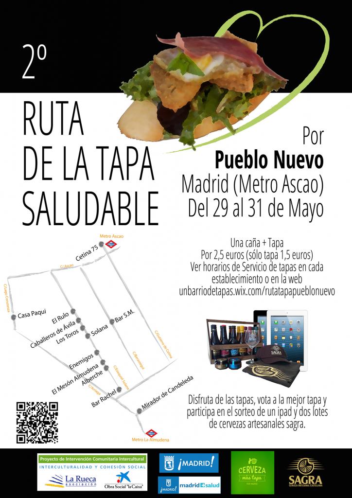 Cartel Ruta de la Tapa Saludable Pueblo Nuevo