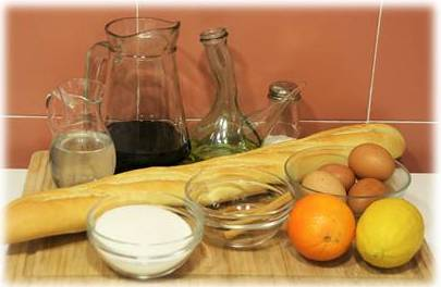 ingredientes torrijas