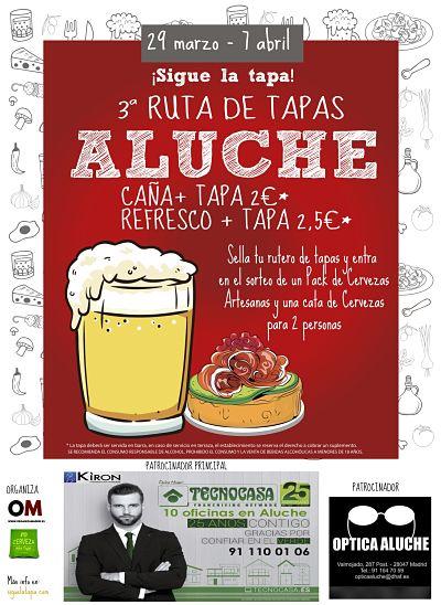 III Ruta de Tapas de Aluche, del 29 de marzo al 7 de abril