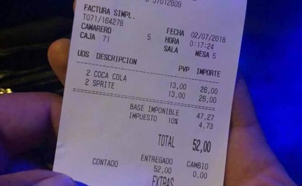 facturas refrescos