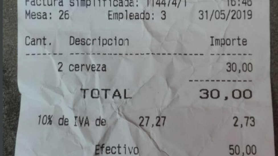 facturas cervezas
